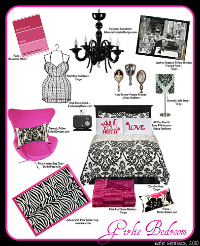 My ultra girlie bedroom idea!