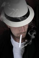 Smoking Blues (sigmarp) Tags: portrait hat cigarette smoke blues fotosondag fs110605