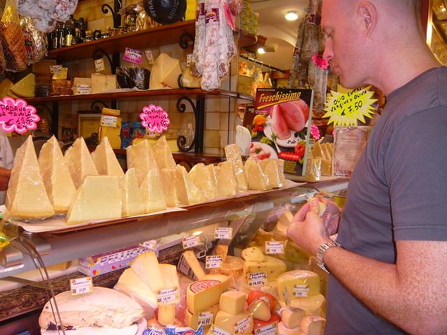 Cheese stand at Ventimiglia market