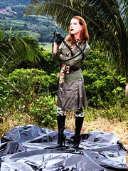 Camo Military Look In Costa Rica 2008 (Karen Chessman: In Trans Umbraculis Fetish Luminis) Tags: fashion high model boots moda skirt camo transgender gloves jungle whip heels transexual mode modelle karenchessman