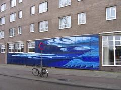 blue mural