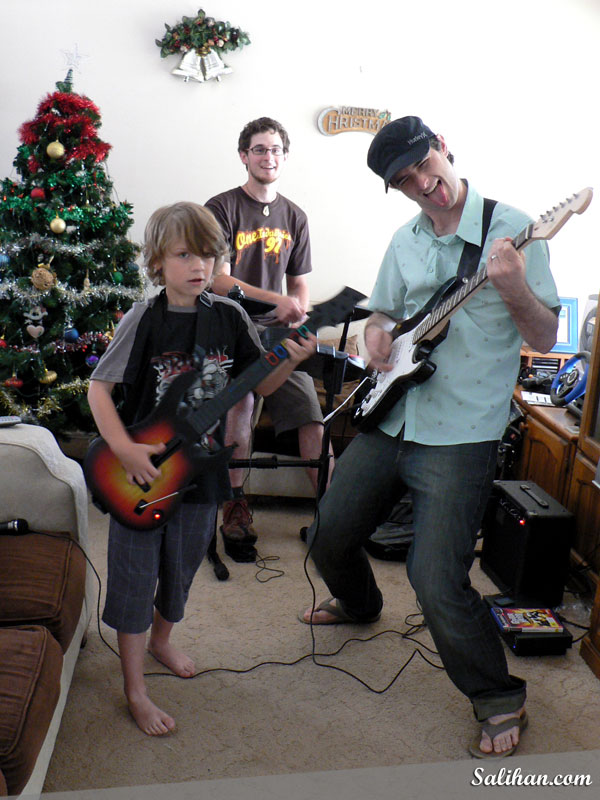 Boys Jamming on Christmas-Day