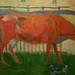 Gauguin, The Red Cow detail with cow