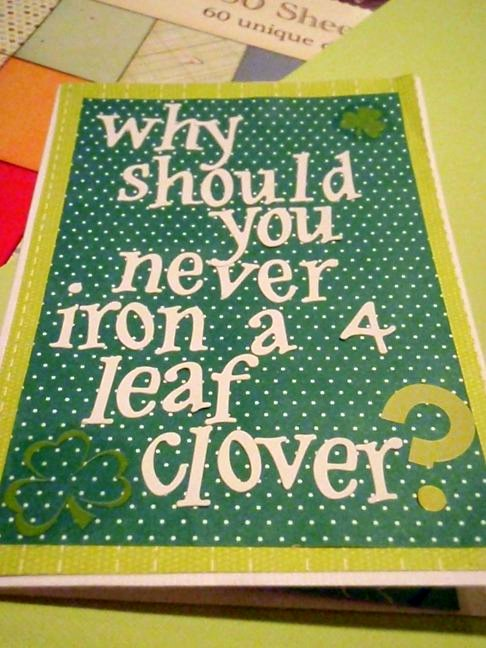 why should you never iron a clover?