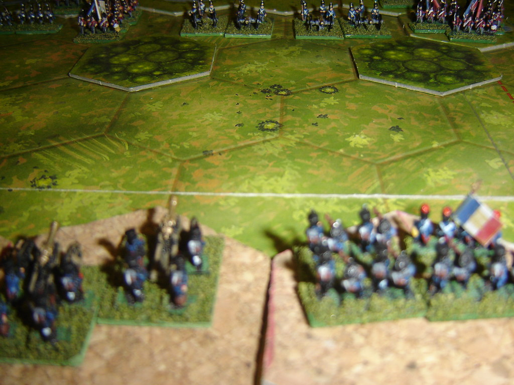 French artillery eye up opposition