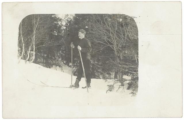 """""""Bilde af Odin som er laget paa vei til skistuen"""" (1909)"""