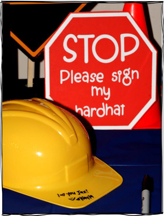 sign hardhat