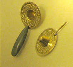 IMG_0939B (jaglazier) Tags: art archaeology gold colombia bogota cities jewelry tools earrings february museums urbanism 2009 precolombian metalworking cundinamarca museodeloro repousse goldwork 22609 earspools