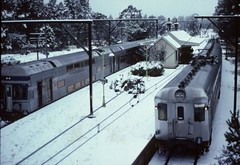 Bathed in snow (highplains68) Tags: railroad winter snow 35mm blackheath 1987 sydney rail railway australia bluemountains 80s nsw kodachrome interurban eighties snowfall 1980s railways katoomba railroads intercity kodachrome64 scannedslides medlowbath uset vset nswgr