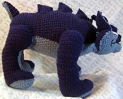 gargoyle amigurumi crochet  with a chance of knitting