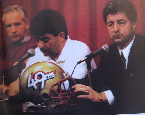 80e70cf9916efd It's one of the most infamous chapters in NFL uniform history: In 1991,  49ers owner Eddie DeBartolo Jr. held a news conference, during which he  proudly ...
