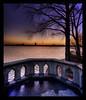 City Sundown HDR (schoebs) Tags: bridge sunset tree wet water stone canon eos evening sundown sigma crop ambient 1020mm alster hdr aussenalster 40d vosplusbellesphotos