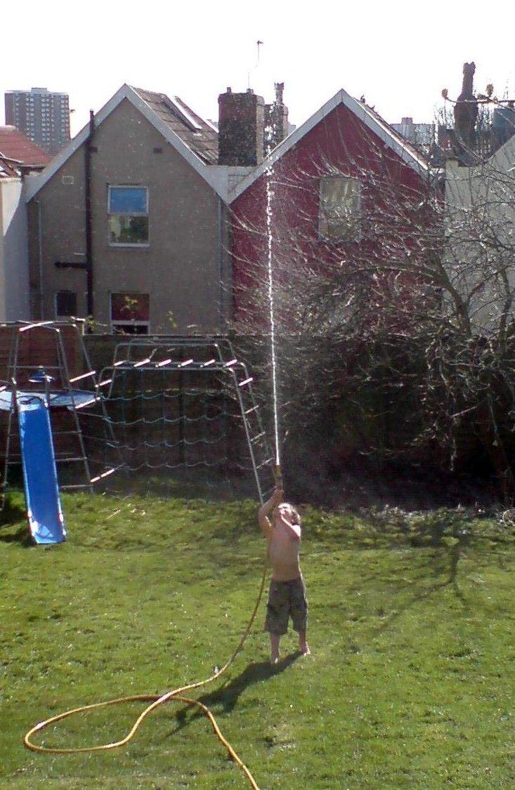Alex in garden