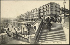 Algiers: The Staircase of the Fisheries and the Boulevard de la Rpublique (GRI) (Getty Research Institute) Tags: ll harborview algiers early20thcentury gettyresearchinstitute boulevarddelarpublique algiersgeneralview algiersalgeria staircaseofthefisheries commons:event=commonground2009