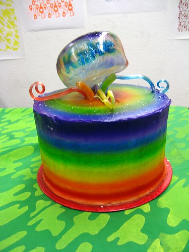 Over the Top Rainbow Velvet Cake