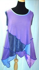 Periwinkle Sleeveless Top (brendaabdullah) Tags: fashion diy designer recycled linen feminine oneofakind crochet knit funky cotton indie etsy salvage tops avantegarde tunics reclaimedsweaters brendaabdullah ecofriendsy
