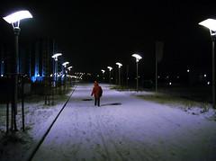 Let The Right One In (f.latjuba) Tags: red snow mystery streetlight europe hungary vampire budapest eu dracula vaciutca magyar danube housingcomplex lettherightonein farishadlatjuba