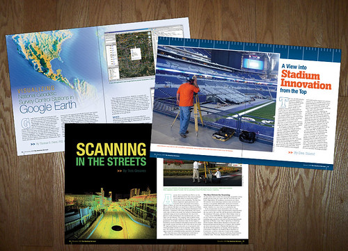 The American Surveyor Magazine Spreads