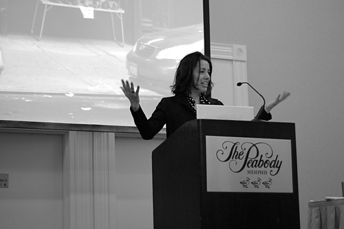 Cindy Chastain presenting at IA Summit 2009. Photo courtesy of Jonell Gades