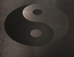 Carbon fiber Ying Yang coffee table as written...