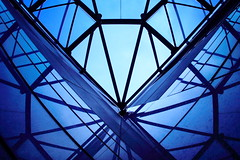 sapphire:  85/365 (helen sotiriadis) Tags: blue reflection glass architecture canon skylight athens greece canon350d 365 canonrebelxt graphite canonef15mmf28fisheye   toomanytribbles