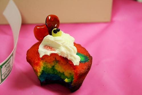 Rainbow Bee Cupcake