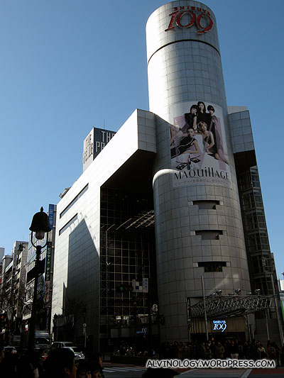 Shibuya 109, a shopping mall targeted at fashionable young women