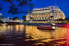 Singapore River Of Dreams (Ragstatic) Tags: city longexposure travel light people holiday color reflection heritage tourism water architecture night composition buildings river relax lights hotel golden design boat photo google search nikon singapore asia exposure rooms day view nocturnal nightshot heart sale rags perspective dream culture visit tourist calm explore photograph destination serene cbd luxury nocturne dri singapura centralbusinessdistrict blending singaporecityscape uniquelysingapore d700 singaporelandscape bluhour singaporeview