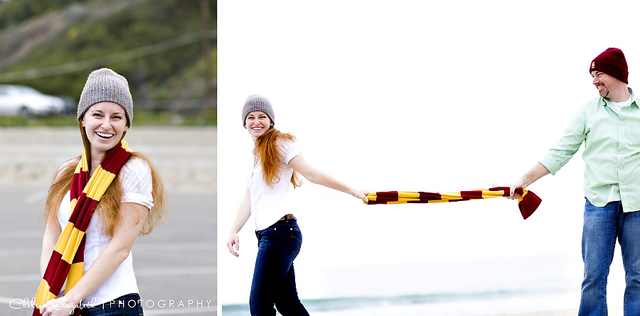 harry potter scarf engagement session