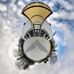 Espace Matisse 3 (AlpixImages) Tags: panorama france nikon little fisheye tokina ciel projection planet charente 360° d300 stereographic planète autopano soyaux poitoucharentes 1017mm littleplanet francelandscapes