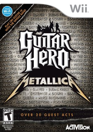 Guitar Hero Metallica - Wii Box Art