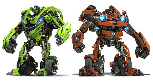 Transformers 2 gemelos Skids y Mudflap