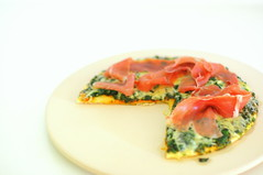 Spinach and Prosciutto di Parma Pizza