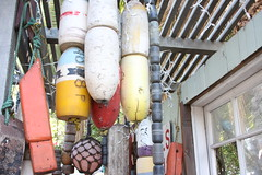 buoys and assorted fishing gear