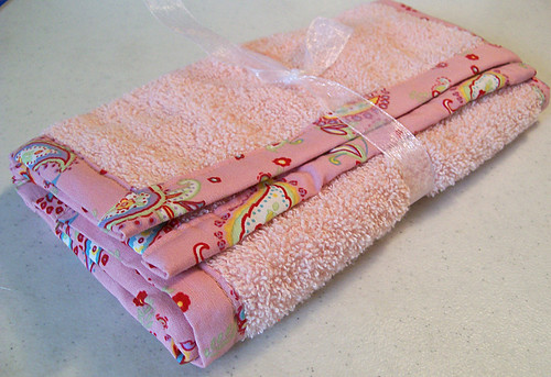 set of two baby burp cloths