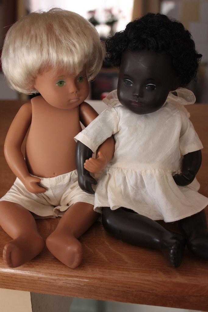 White and black Sasha babies