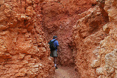 Through the pit (Terrence Clifford) Tags: travel tourism utah desert hiking arches canyonlandsnationalpark coloradoriver canyonlands moab bryce zion zionnationalpark redrock archesnationalpark brycenationalpark