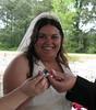 blue ring wedding photo