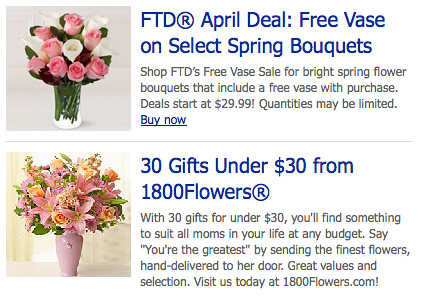 Ad MSN Portal Buy Flowers 2