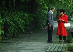 Walk in the park (KC Toh) Tags: china park garden couple path westlake talking chatting     hangzhuo
