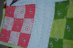 DQS6, Detail (Tiny House) Tags: pink green bird quilt denyseschmidt dollquilt fleamarketfancy joeldewberry aviaryfleamarketfancy