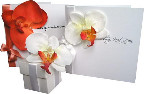 Orchidkiss Orange Wedding Set