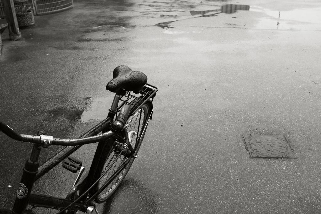 cykel i regn