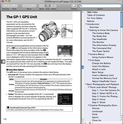 The accessory terminal, as documented on page 114 of the Nikon D5000 Manual