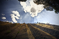 The Wall (Stromboly) Tags: sky cloud sun muro up wall landscape pared cielo hdr nube hidalgo prismas superaplus aplusphoto