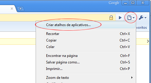Google Chrome - Criando aplicativo desktop