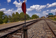 Choices 0487 (casch52) Tags: california road county railroad canon river landscape switch photo track rail tokina photograph locomotive sacramento choice crossroad railyard 50d 1116mm platinumheartaward explorer432 familygetty