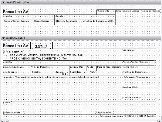 Template do boleto do Itaú no Crystal Reports