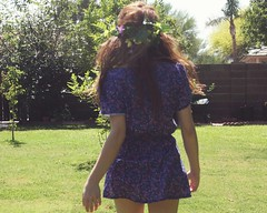 (self spirit soul) Tags: flowers summer sun floral girl dress freespirit