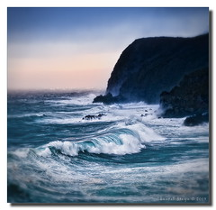 Jade Surf (Chantal Steyn) Tags: ocean sea white motion water photoshop landscape island coast nikon surf wave jade nikkor d300 nohdr 1685mm goughisland